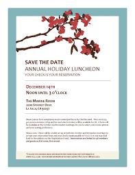 holiday lunch invitation the village garden club of la jolla