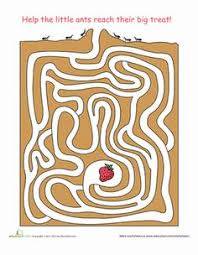 ant activities kids download print pdf file u2014 u003e ant maze