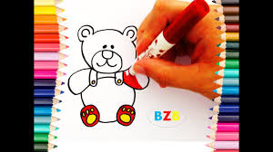 color draw teddy bear magic land bzb