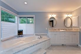 White Framed Oval Bathroom Mirror - amazing carrara marble bathroom vanities with undermount bathtub
