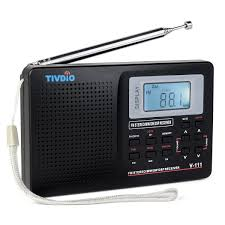 Vermont travel alarm clocks images Tivdio v 111 portable shortwave travel radio am fm jpg
