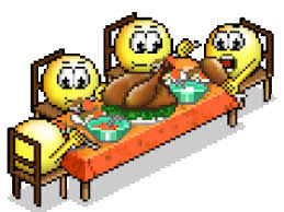 thanksgiving dinner smiley gif animation animated pictures images