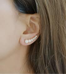 ear earrings miss mozart faux pearl ear crawler earrings misschopin