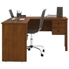 bestar hampton corner computer desk bestar somerville 3 drawer l shaped workstation brown desks