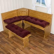 greendale home fashions 4 piece microfiber nook cushion set