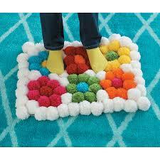 Wool Ball Rug Pom Pom Rug Kit Flower Pom Poms And Pom Pom Rug