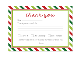 Invitation Cards For Christmas Christmas Thank You Cards Printable Kids Fill In The Blank