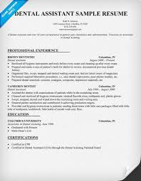 Veterinary Technician Resume Sample by Dental Assistant Resume Dentist Health Resumecompanion Com
