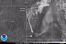 Satellite Weather Map Watch Animation Of Satellite Images Shows Smoke From The Brian