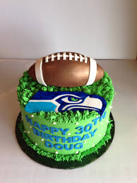 seahawks birthday cake with fondant football sports cakes
