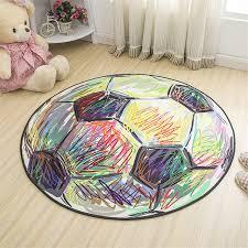 tapis chambre enfants bande dessinée tapis de football polyester tissu ronde tapis pour