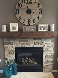 lowe u0027s air stone and barn beam mantle new house pinterest