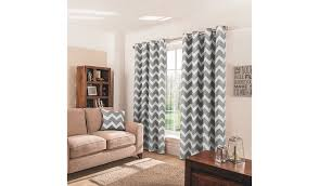 Cream Nursery Curtains by Charcoal Chevron Eyelet Curtains Home U0026 Garden George