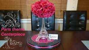 theme eiffel tower centerpiece