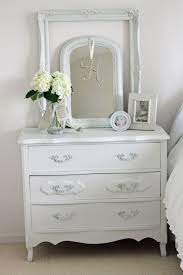 white dresser and nightstand set ideas for shabby chic style