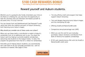 lexus visa rewards how to apply for the auburn university bankamericard cash rewards