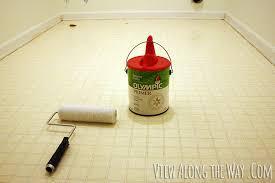 Can I Use Laminate Flooring In Bathroom How To Paint Vinyl Or Linoleum Sheet Flooring