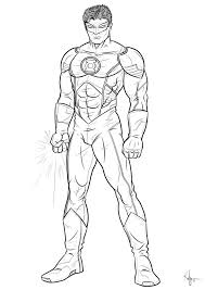 green lantern coloring pages chuckbutt com