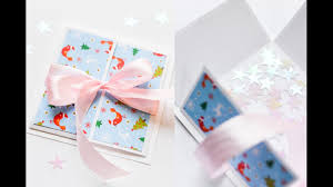 how to make gift box christmas pop up card step by step diy