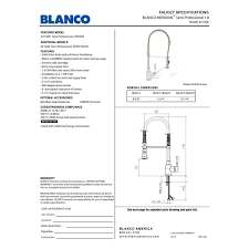 blanco 441409 meridian satin nickel pro pre rinse units kitchen