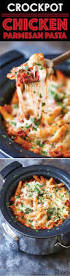 slow cooker chicken parmesan pasta damn delicious