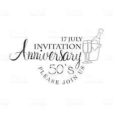 Black And White Invitation Cards Fifty Years Anniversary Party Black And White Invitation Card