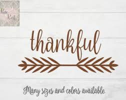 thanksgiving decals give thanks decal small vinyl decal fall decor thanksgiving