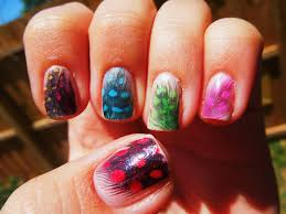 29 feather nail designs 40 examples of feather nail art art and