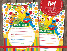 luvibee kids company sesame street free printable invitation
