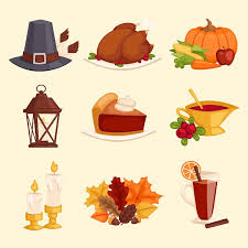 happy thanksgiving day icons vector illustrations creative market