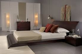 Modern Platform Bed Frames Bedroom Contempo Bedroom Decoration Using Mahogany Wood Platform