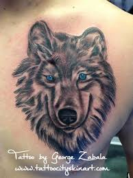 collection of 25 wolf with blue on chest