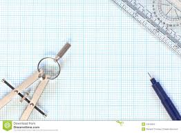 engineering graph paper and compass still life stock photography