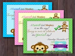 monkey invitations baby shower monkey baby shower invitation on luulla
