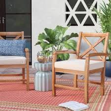 Patio Furniture Langley Wood Patio Furniture You U0027ll Love Wayfair