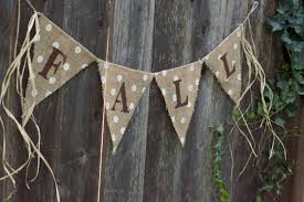 decor your house with thanksgiving burlap banner in 2015 fashion
