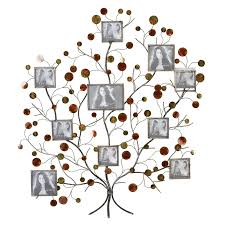 Wall Decor Metal Tree Aspire Family Tree Picture Frame Wall Decor Uk The Unique House