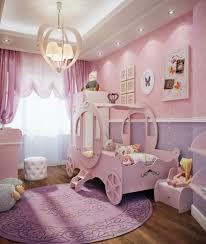 mädchen kinderzimmer babyzimmer grau rosa gestaltungsideen kutsche im kinderzimmer