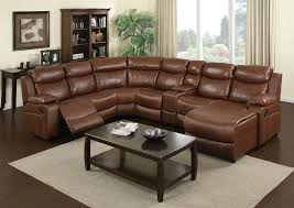 Coaster Sectional Sofa Ellsworth 7 Piece Warm Brown Leather Reclining Sectional By