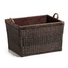 amazon com the basket lady lift off lid wicker storage basket