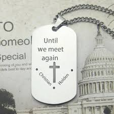 remembrance dog tags titanium steel remembrance dog tag necklace with name or words