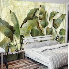 Wohnzimmer Tapeten Design Aliexpress Com Shinehome Bananenblatt Tapete 3d Natur Foto