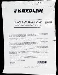 professional bald cap glatzan bald cap uncolored large kryolan professional make up