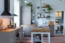 ikea cuisine bois cuisine ikea blanche et bois gallery of idud cuisine gris et blanc