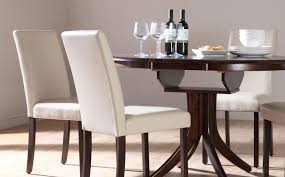 Contemporary Dining Room Tables And Chairs by Tidy And Neat Home With White Wooden Dining Chairs Dining Chairs