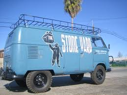 volkswagen rabbit truck lifted custom van by rust box the stone yard motorcycles pinterest