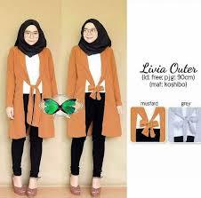 blazer wanita muslimah modern 27 model baju muslim kombinasi blazer casual modern model baju