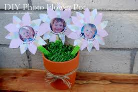 kids crafts photo flower pot mothersday