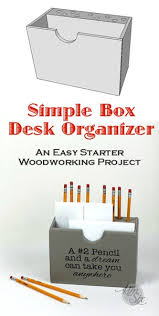 easy diy wooden desk organizer the kim six fix