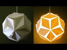 Paper Pendant Shade Diy Lamp Lantern 5 Petals Learn How To Make A Paper Pendant